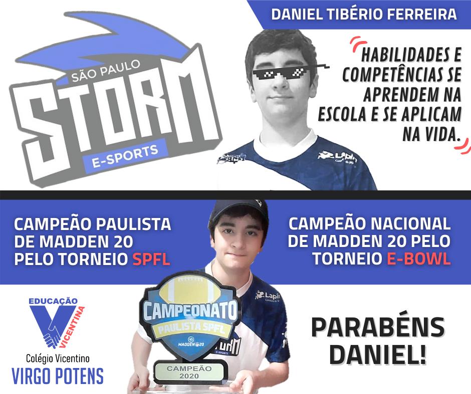 Parabéns Daniel!